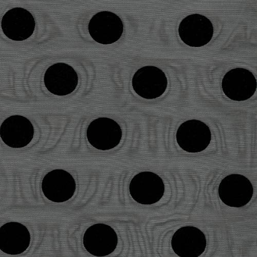 ET390 - TulElástico Flocado Lunar Negro