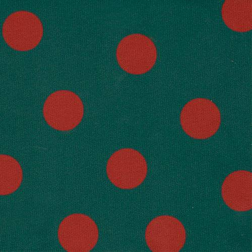 ET405 - KnitStretch Green Polka Dot Red